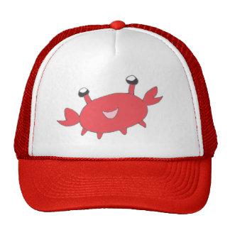 Crabe rouge heureux mignon casquette de camionneur