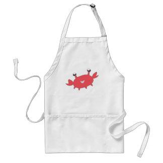 Crabe rouge heureux mignon tablier