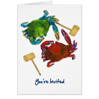 Crabes du Maryland avant et après que vous soyez Carte De Vœux