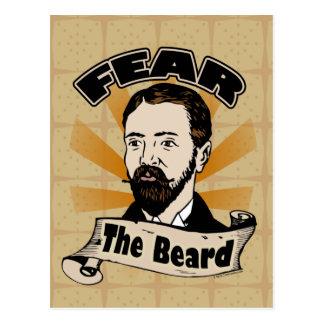 Craignez la barbe, moustache drôle carte postale