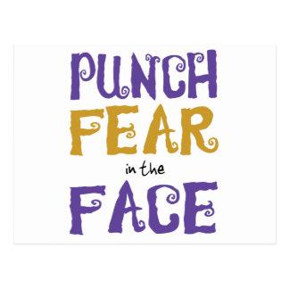 Crainte de poinçon dans le visage cartes postales