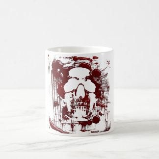 Crâne #2 de sang mug blanc