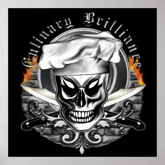 Crâne 4 de chef : Brillant culinaire Poster