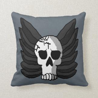 Crâne à ailes coussin décoratif