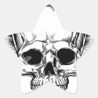 Crâne à ailes par faucheuse sticker étoile