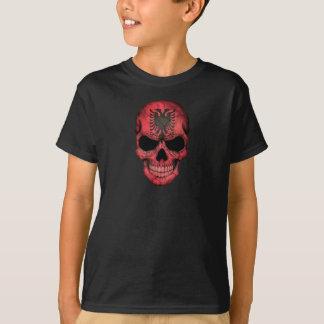Crâne albanais de drapeau t-shirt