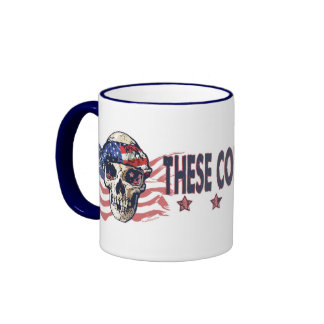 Crâne américain patriotique mug ringer