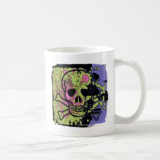 Crâne avec des baisses de sang mug blanc