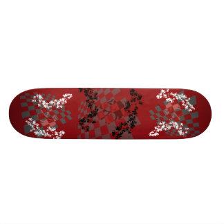 Crâne avec la planche à roulettes de coeurs skateboard customisable