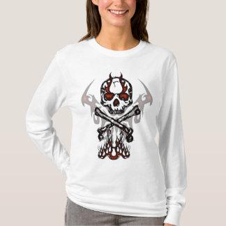 Crâne avec le sweat - shirt à capuche de flammes