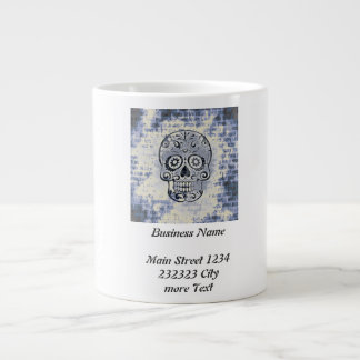 crâne bleu mug jumbo