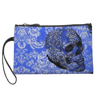 Crâne bleu pochette avec anse
