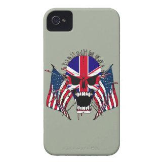 Crâne britannique coques Case-Mate iPhone 4