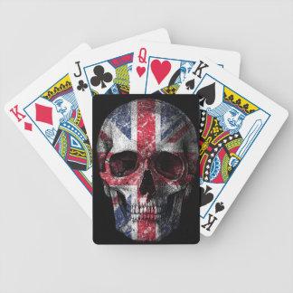 Crâne BRITANNIQUE de drapeau Jeu De Poker