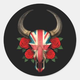 Crâne britannique de Taureau de drapeau avec les r Adhésifs