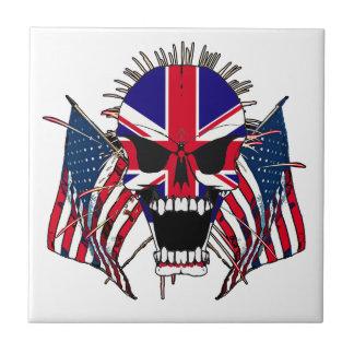Crâne britannique petit carreau carré