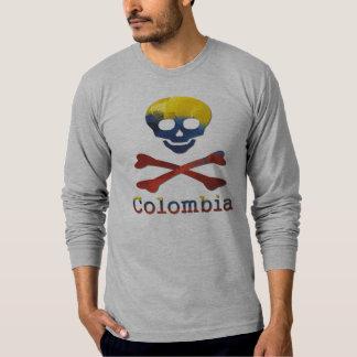 Crâne colombien et os croisés t-shirt
