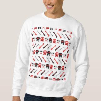 Crâne comique avec le motif coloré d'os sweatshirt