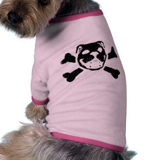 Crâne de bouledogue t-shirt pour chien