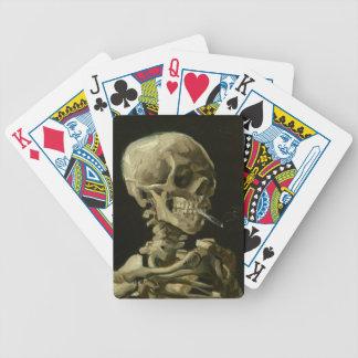 Crâne de cartes de jeu fumant par Van Gogh Cartes À Jouer