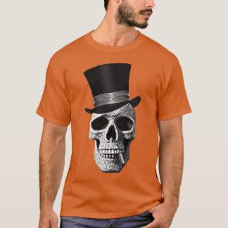 Crâne de casquette supérieur t-shirt