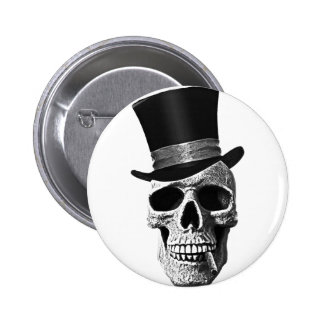 Crâne de chapeau supérieur pin's