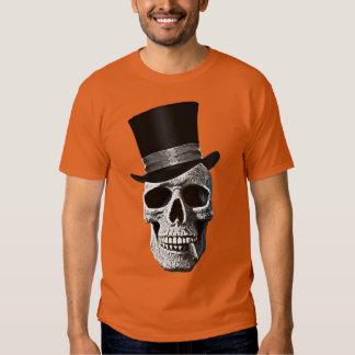 Crâne de chapeau supérieur t-shirts