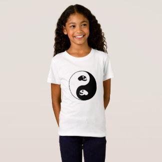 Crâne de chat de Yin Yang T-Shirt