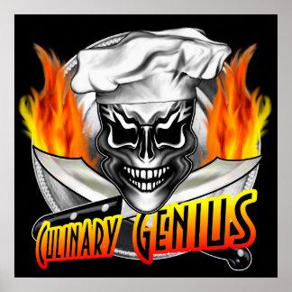 Crâne de chef : Génie culinaire Poster