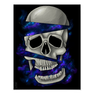 Crâne de coupe poster