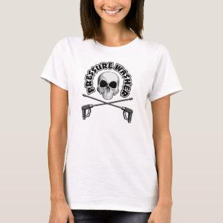 Crâne de décapant de pression t-shirt