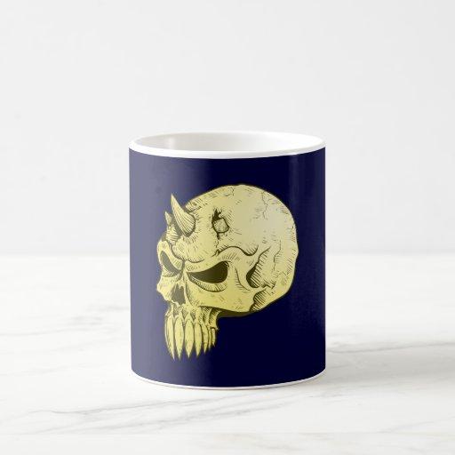Crâne de démon tête de mort demon skull mug