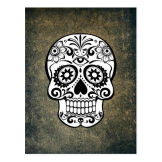 Crâne de Dia De Los Muertos Sugar Carte Postale