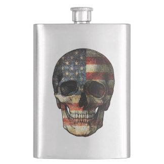 Crâne de drapeau américain fiole