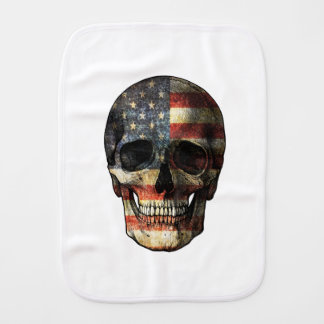 Crâne de drapeau américain linge de bébé