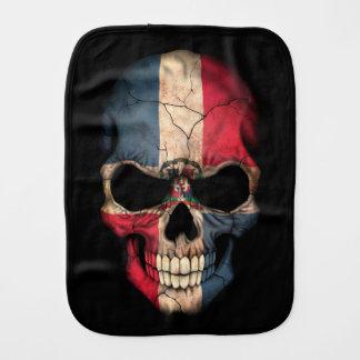 Crâne de drapeau de la République Dominicaine sur Linge De Bébé