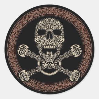 Crâne de Duotone et autocollants celtiques d'os
