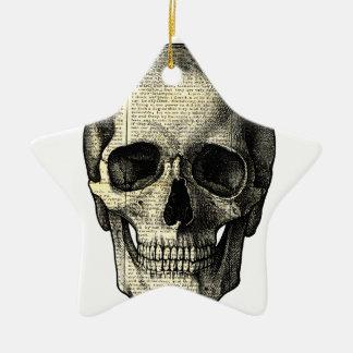 Crâne de journal ornement étoile en céramique