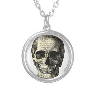 Crâne de journal pendentif rond