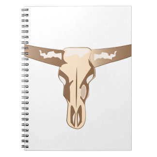 Crâne de Longhorn Carnets À Spirale