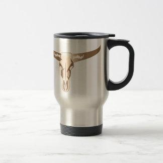 Crâne de Longhorn Mug De Voyage En Acier Inoxydable