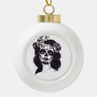 Crâne de masque boule en céramique