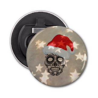 Crâne de Noël avec le bokeh d'étoile