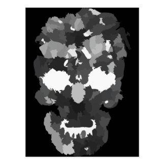 Crâne de patchwork carte postale