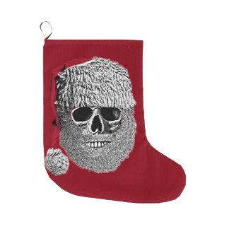 Crâne de Père Noël Grande Chaussette De Noël