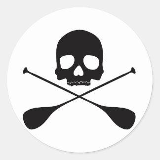 Crâne de PETITE GORGÉE Sticker Rond