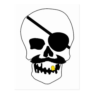 Crâne de pirate cartes postales