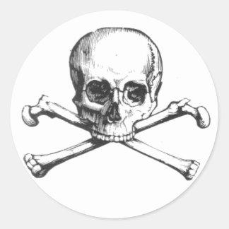 Crâne de pirate et autocollant d'os croisés