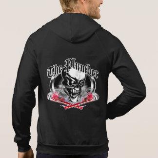 Crâne de plombier avec les clés de tabagisme 5 veste à capuche