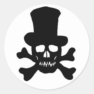 Crâne de poison de 20 autocollants et casquette
